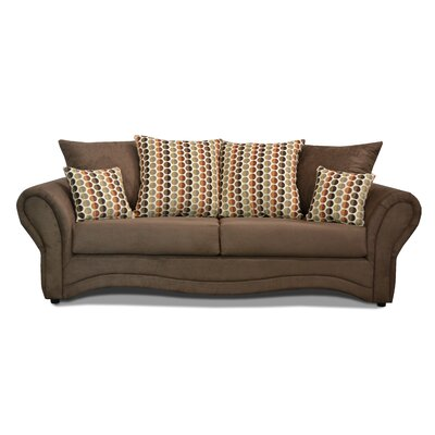 Riley Sofa Upholstery: Bulldozer Java / Button Down Spice