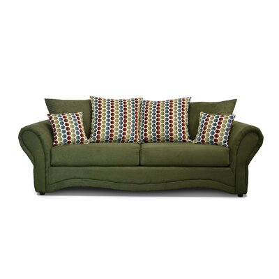 Riley Sofa Upholstery: Bulldozer Olive / Button Down Multi