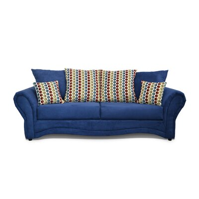 Riley Sofa Upholstery: Mission Cobalt / Button Down Multi