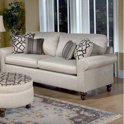 Elizabeth Sofa Upholstery: Alahambra Khaki / Gatework Walnut