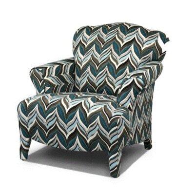 Gardea Armchair Upholstery: Quadrille Chocolate