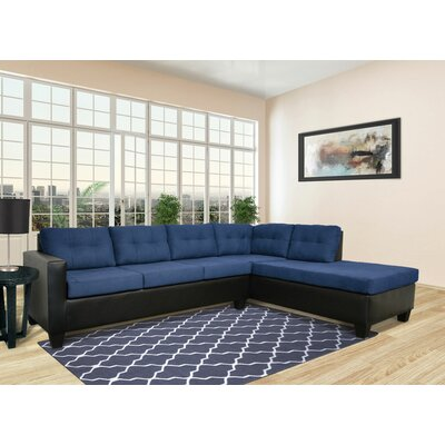 Brewster Sectional Color: Bulldozer Cobalt / San Marino Black