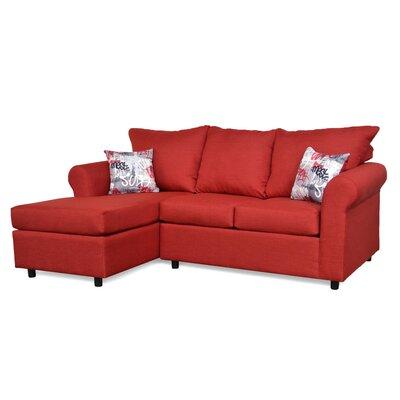 Dewitt Sectional Upholstery: Oscar Red & Grafitti Red