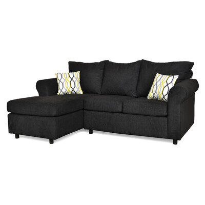 Dewitt Sectional Upholstery: Due Black & Mastri Black