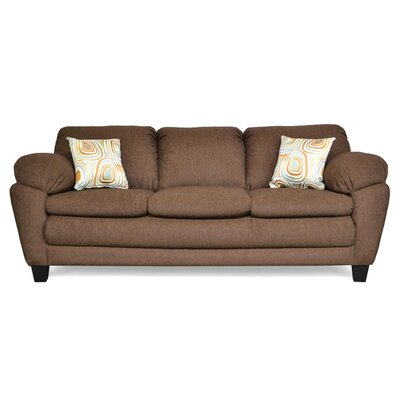 Curren Sofa Upholstery: Due Chocolate & Free Fall Tangerine