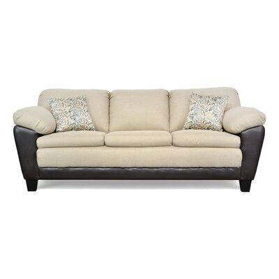 Brooklyn Sofa Upholstery: Oscar Linen / San Marino Black / Mayhem Linen