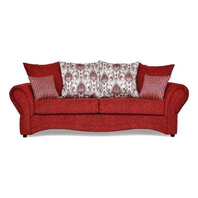 Riley Sofa Upholstery: Sinbad Ruby / Santa Monica Ruby / Cairo Ruby