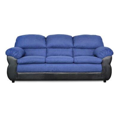 Abigail Sofa Upholstery: Bulldozer Cobalt / San Marino Black