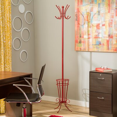 Coat Rack with Umbrella Holder
