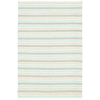 Altair 3 Piece Hand Woven Cotton Turquoise/Beige/Tan Area Rug Rug Size: Rectangle 8' x 10'