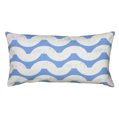 Ampelius Cotton Lumbar Pillow Color: Blue