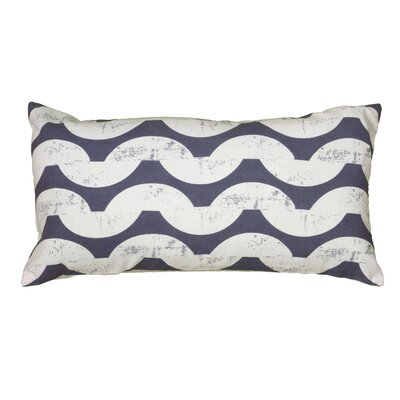 Ampelius Cotton Lumbar Pillow Color: Navy