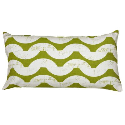Ampelius Cotton Lumbar Pillow Color: Green