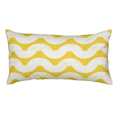 Ampelius Cotton Lumbar Pillow Color: Yellow