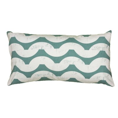 Ampelius Cotton Lumbar Pillow Color: Teal