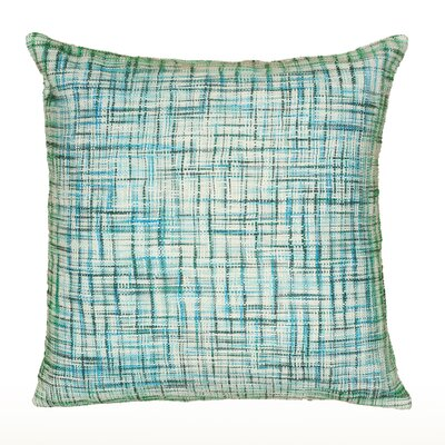 Wyss 100% Cotton Pillow Cover Color: Turquoise / Ivory