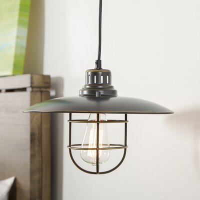 Evelynn 1-Light Mini Pendant Finish: Black