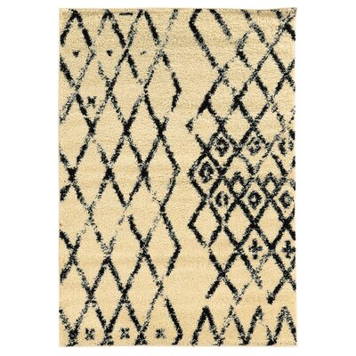 Brookstead Ivory/Black Area Rug Rug Size: Rectangle 8 x 10