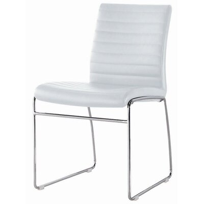 Callum Side Chair Upholstery: White
