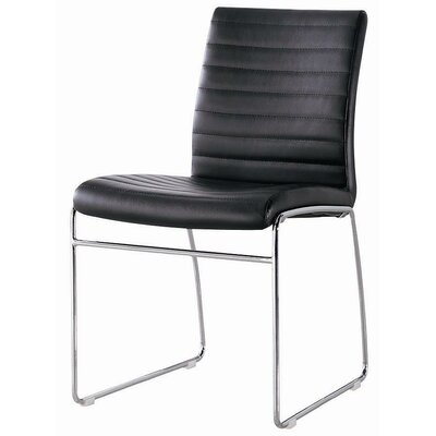 Callum Side Chair Upholstery: Black
