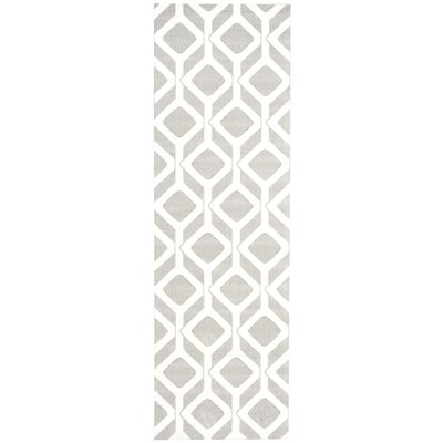 Psyche Gray Area Rug Rug Size: Runner 26 x 8