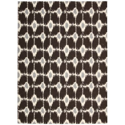 Vandervort Cocoa/Ivory Area Rug Rug Size: Rectangle 5 x 7