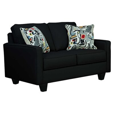 Serta Upholstery Liadan Loveseat Upholstery: Graham Black/Graffiti Nightlight