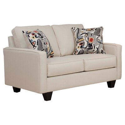 Serta Liadan Loveseat Upholstery: Graham Cream/Graffiti Nightlight