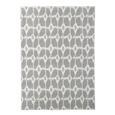 Tabris Gray/Ivory Area Rug Rug Size: Rectangle 5 x 7