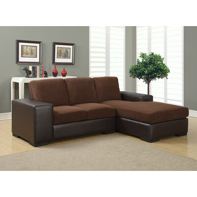 Mcelroy Sectional Upholstery: Dark Brown / Brown