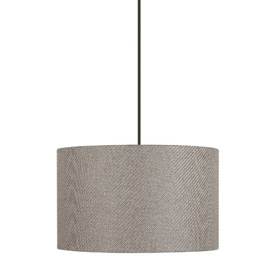 Helene 1 Light Drum Pendant Shade Color: Taupe