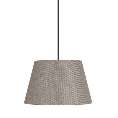 Artemis 1-Light Mini Pendant Shade Color: Taupe