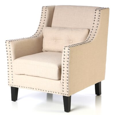 Percy Nailhead Trimmed Club Chair Color: Oatmeal