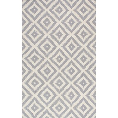 Obadiah Hand-Woven Wool Gray Area Rug Rug Size: Rectangle 76 x 96