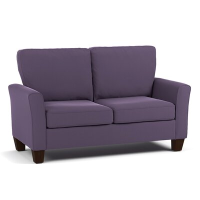 Asberry Compact Sofa Upholstery Color: Plum Purple Velvet