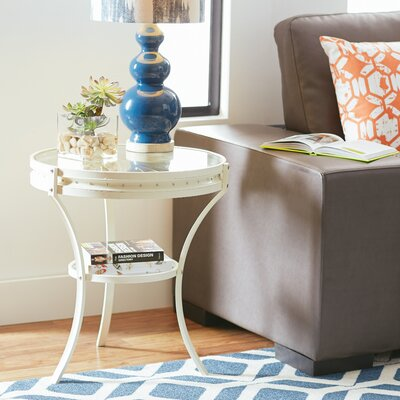 Mcelrath End Table Finish: White