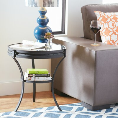 Spokes End Table Finish: Black