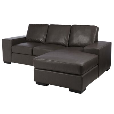 Asaro Sectional Upholstery: Dark Brown