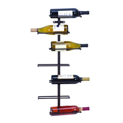Zaniah 7 Bottle Wall Mounted Wine Rack