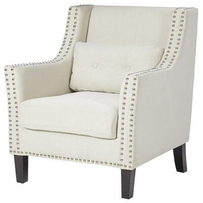 Percy Nailhead Trimmed Club Chair Color: Ivory