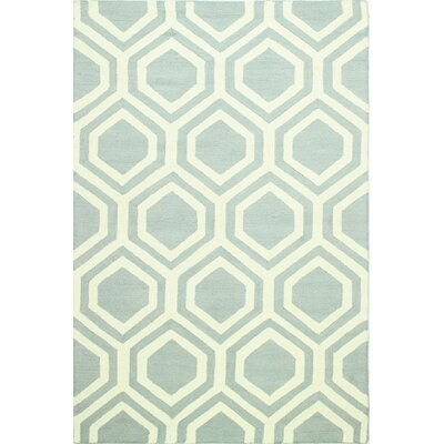 Meredith Hand-Tufted Light Blue Area Rug Rug Size: Rectangle 5 x 76