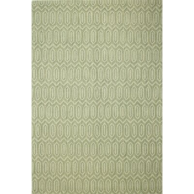 Marrakesh Hand Woven Wool Light Green Area Rug Rug Size: Rectangle 76 x 96