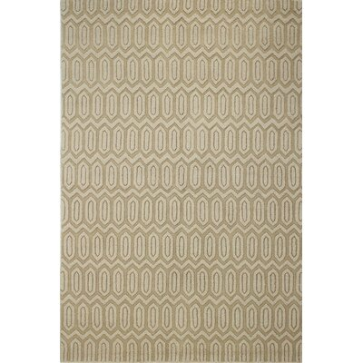Adonis Hand-Woven Light Gold Area Rug Rug Size: Rectangle 5 x 76