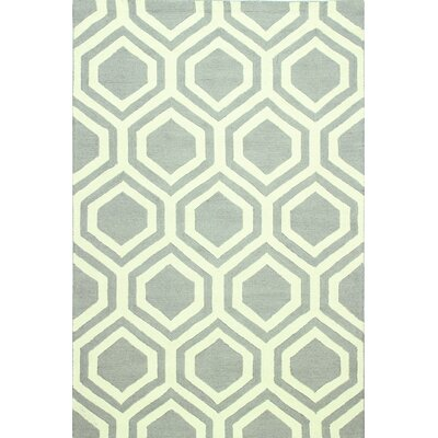 Meredith Hand-Tufted Grey Area Rug Rug Size: 5 x 76