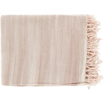 Zenon Cotton Throw Blanket Color: Pink