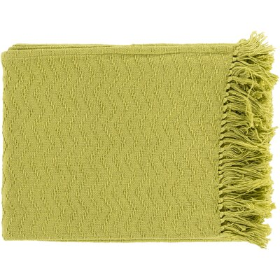 Pyxis Cotton Throw Blanket Color: Green