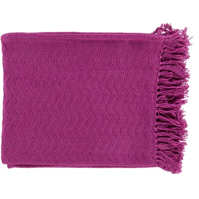 Pyxis Cotton Throw Blanket Color: Pink