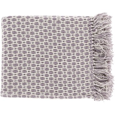 Bedoya Cotton Throw Blanket Color: Purple