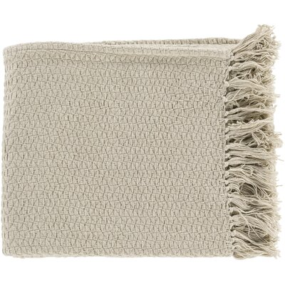 Polaris Cotton Throw Blanket Color: Beige