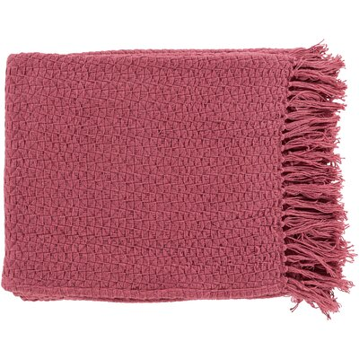 Polaris Cotton Throw Blanket Color: Red